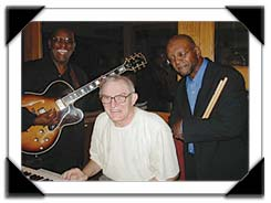 The Re-Union Trio Band, Jerry Byrd, Gene Ludwig & Randy Gelispie, (see original 1964 photo on Photos Pg.1) Night Town, Cleveland OH, 9/2004
