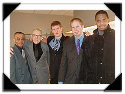 Jazz at Lincoln Center (l-r) Grady Tate, Gene, Eric Alexander, Dave Stryer and Robert Stewart Feb. 16-18, 2006