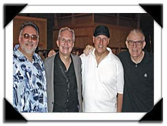 l-r: Duke Robillard, Scott Hamilton Chuck Riggs and Gene Van Gelder's Recording Studio, June 2007